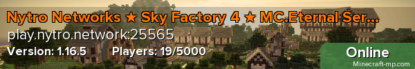 Nytro Networks ★ #1 Modded Server Network ★ Sky Factory 4 ★ FTB Ultimate