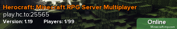 Herocraft: Minecraft RPG Server Multiplayer