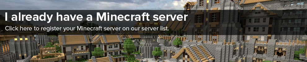Click here to register your Minecraft server