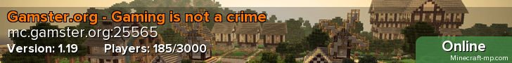 Gamster.org - Gaming is not a crime