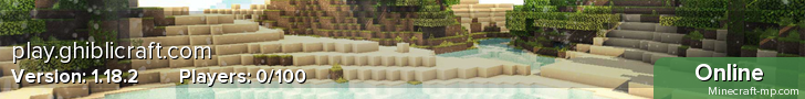 GhibliCraft 1.12.2 ★ YouTuber ★ Creative ★ Roleplay ★ Survival ★ McMMO ★ PvP ★