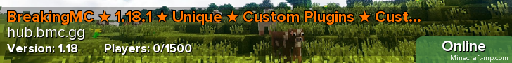 BreakingMC ★ 1.14.4 ★ Unique ★ Custom Plugins ★ Custom Enchants ★ Factions ★